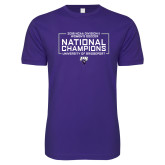 Next Level SoftStyle Purple T Shirt-2018 NCAA DII National Champions