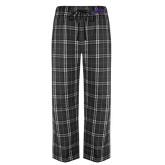 Black/Grey Flannel Pajama Pant-Purple Knights