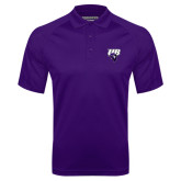 Purple Textured Saddle Shoulder Polo-Primary Mark