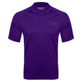 Purple Textured Saddle Shoulder Polo-Purple Knights