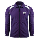 Colorblock Purple/White Wind Jacket-Primary Mark