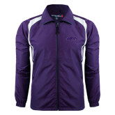 Colorblock Purple/White Wind Jacket-Purple Knights
