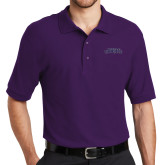 Purple Easycare Pique Polo-Purple Knights