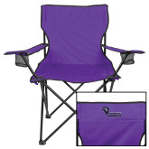 Deluxe Purple Captains Chair-Purple Knights Stacked w/ Knight Head