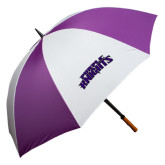 64 Inch Purple/White Umbrella-Purple Knights