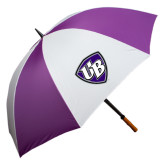 64 Inch Purple/White Umbrella-UB Shield