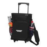 30 Can Black Rolling Cooler Bag-Brandeis Judges Wordmark