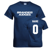 Navy T Shirt-Brandeis Judges Wordmark, Personalized Name and #