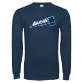 Navy Long Sleeve T Shirt-Basketball