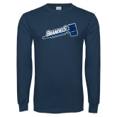 Navy Long Sleeve T Shirt-Swim & Dive