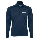 Syntrel Navy Interlock 1/4 Zip-Brandeis Judges Wordmark