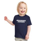 Toddler Navy T Shirt-Brandeis Judges Wordmark