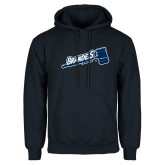 Navy Fleece Hoodie-Brandeis Athletics