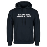 Navy Fleece Hoodie-Swim & Dive