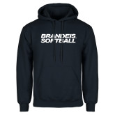 Navy Fleece Hoodie-Softball