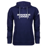 Adidas Climawarm Navy Team Issue Hoodie-Brandeis Judges Wordmark
