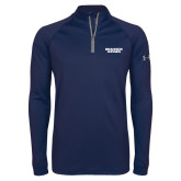 Under Armour Navy Tech 1/4 Zip Performance Shirt-Brandeis Judges Wordmark