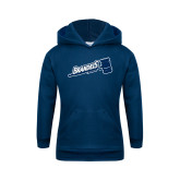 Youth Navy Fleece Hoodie-Brandeis Athletics