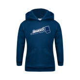 Youth Navy Fleece Hoodie-Fencing