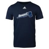 Adidas Navy Logo T Shirt-Brandeis Athletics