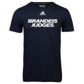 Adidas Climalite Navy Ultimate Performance Tee-Brandeis Judges Wordmark