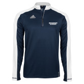 Adidas Modern Navy Varsity 1/4 Zip-Brandeis Judges Wordmark