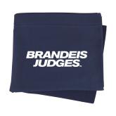Navy Sweatshirt Blanket-Brandeis Judges Wordmark