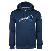 Under Armour Navy Performance Sweats Team Hoodie-Brandeis Athletics