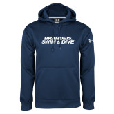 Under Armour Navy Performance Sweats Team Hoodie-Swim & Dive