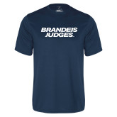 Performance Navy Tee-Brandeis Judges Wordmark