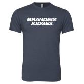 Next Level Vintage Navy Tri Blend Crew-Brandeis Judges Wordmark