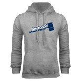 Grey Fleece Hoodie-Brandeis Athletics