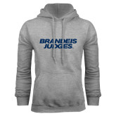 Grey Fleece Hoodie-Brandeis Judges Wordmark