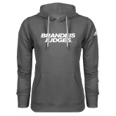 Adidas Climawarm Charcoal Team Issue Hoodie-Brandeis Judges Wordmark