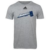 Adidas Sport Grey Logo T Shirt-Brandeis Athletics