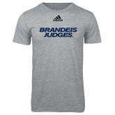 Adidas Sport Grey Logo T Shirt-Brandeis Judges Wordmark