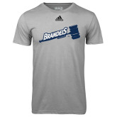 Adidas Climalite Sport Grey Ultimate Performance Tee-Brandeis Athletics