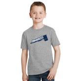 Youth Grey T-Shirt-Brandeis Athletics
