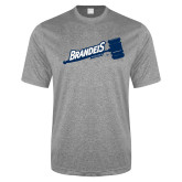 Performance Grey Heather Contender Tee-Brandeis Athletics