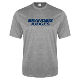 Performance Grey Heather Contender Tee-Brandeis Judges Wordmark