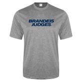 Performance Grey Heather Contender Tee-Brandeis Judges Wordmark