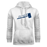 White Fleece Hoodie-Brandeis Athletics