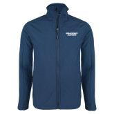 Navy Softshell Jacket-Brandeis Judges Wordmark