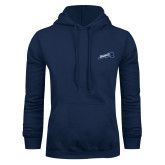 Navy Fleece Hood-Brandeis Athletics