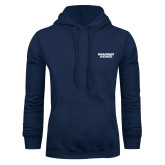 Navy Fleece Hood-Brandeis Judges Wordmark