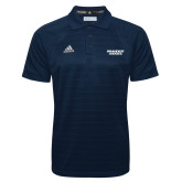 Adidas Climalite Navy Jacquard Select Polo-Brandeis Judges Wordmark