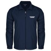 Full Zip Navy Wind Jacket-Brandeis Judges Wordmark