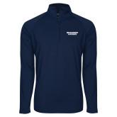 Sport Wick Stretch Navy 1/2 Zip Pullover-Brandeis Judges Wordmark