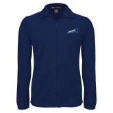 Fleece Full Zip Navy Jacket-Brandeis Athletics
