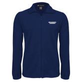 Fleece Full Zip Navy Jacket-Brandeis Judges Wordmark